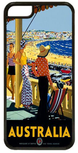 Australia Vintage 1930's Travel Poster Cover/Case Fits iPhone 7/7S. Tourism Gift