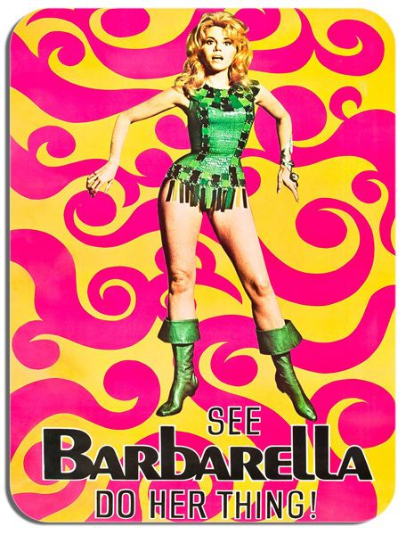 Barbarella Japanese Movie Poster Mouse Mat. See Her Do Her Thing Film Mouse pad