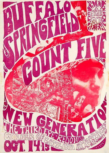 Buffalo Springfield Count Five T-Shirt Gents, Ladies & Kids Sizes