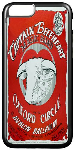 Captain Beefheart Concert Poster Cover/Case Fits iPhone 7/7S Psychedelic Rock
