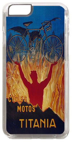 Cycles Motos Titania Classic Bicycle Ad Poster Cover/Case Fits iPhone 6/6S. Bike