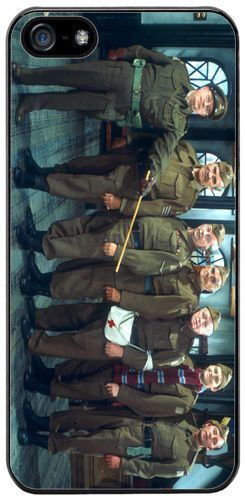 Dads Army Quality Rubber Cover Case Fits iPhone 5/5S Classic British 70s TV Show