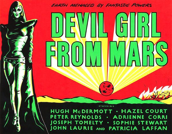 Devil Girl From Mars Classic Movie Film Poster T-Shirt Gents Ladies Kids Sizes