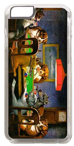 Dogs Playing Poker High Quality Cover/Case For iPhone 6 Cassius Coolidge Art