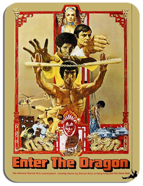 Enter The Dragon Movie Poster Mouse Mat. Film Novelty Mouse pad
