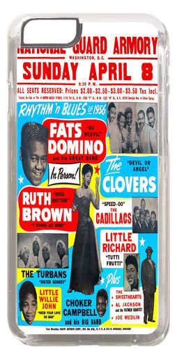 Fats Domino, Little Richard, Ruth Brown R&B Cover/Case Fits iPhone 6/6S Soul