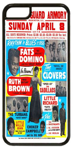 Fats Domino, Little Richard, Ruth Brown R&B Cover/Case Fits iPhone 7/7S Soul