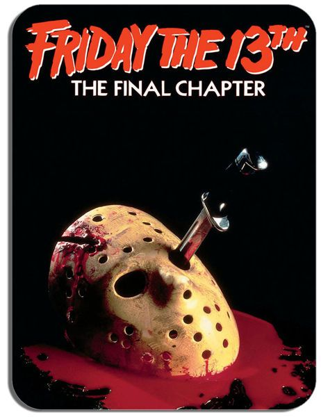 Friday The 13th Final Chapter IV 4 Vintage Film Poster Mouse Mat Movie Mouse Pad