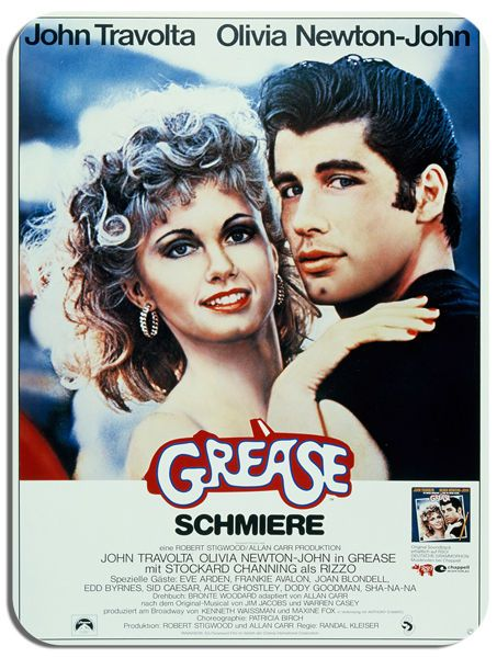 Grease Vintage Film Poster Mouse Mat. Dance Movie Mouse pad Gift. John Travolta