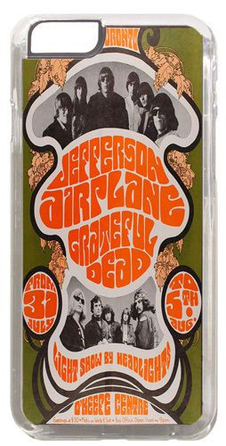 Jefferson Airplane Poster Cover/Case Fits iPhone 7/7S 6/6S 6+/6+S Rock Music