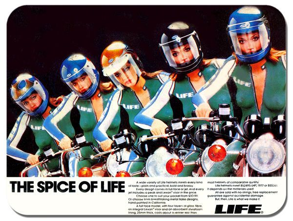 Life Helmets Vintage Ad Motorcycle Mouse Mat Motorbike Biker Girls Mouse pad