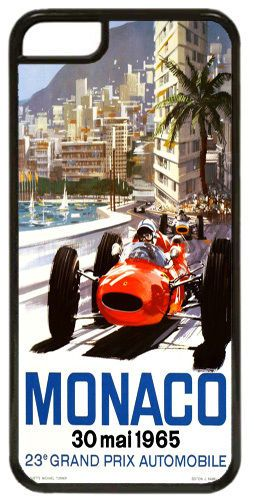 Monaco Grand Prix 1965 Cover/Case For iPhone 5C. Vintage Poster Car Race Gift