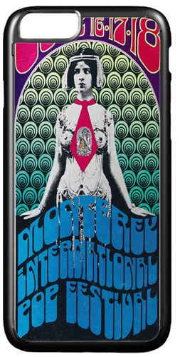 Monterey Psychedelic Rock Festival Poster Cover/Case Fits iPhone 7/7S 6/6S 6/6+S