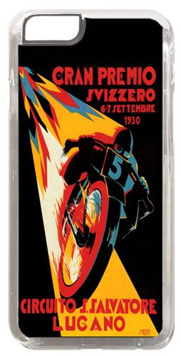 Moto GP Vintage Poster Cover Case For iPhone 6. Swiss Grand Prix Motorcycle Gift