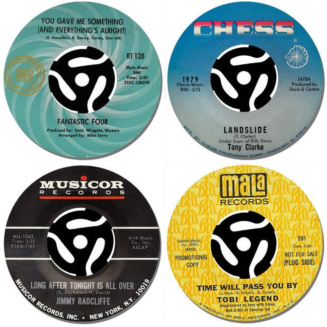 Northern Soul Record Label Drinks Coasters Set Of 4. High Quality Cork Backed #2