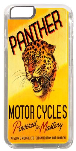 Panther Motorcycles Ad Cover/Case For iPhone 6. Vintage Motorbike Biker Gift