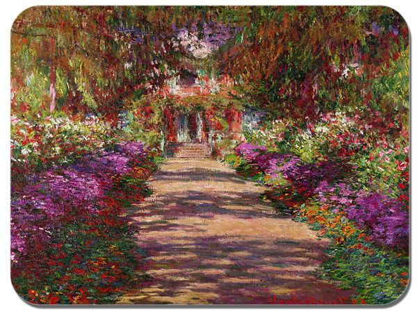 Pathway In Monets Garden Giverny Mouse Mat. High Quality Art Print Mouse Pad