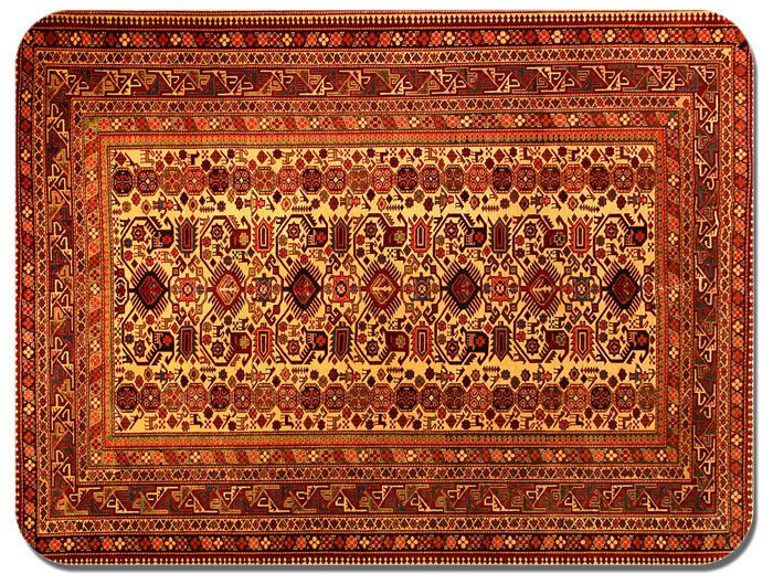 Persian Rug Design Print Mouse Mat. Vintage Carpet Print Quality Mouse Pad #3