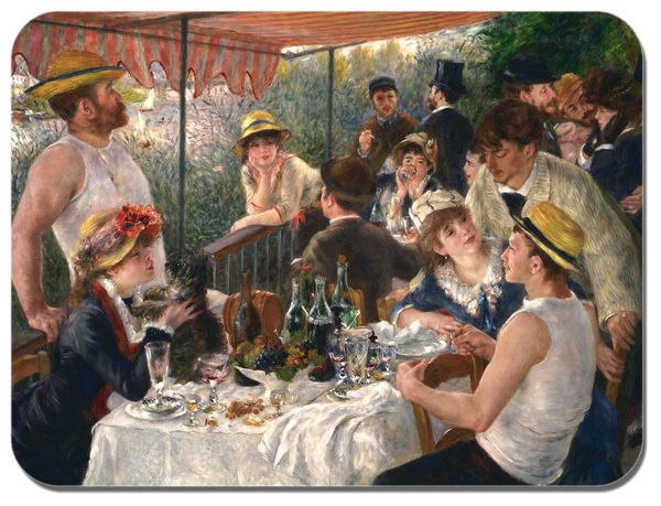 Renoir Luncheon of the Boating Party Mouse Mat HD Quality Art Computer Mouse Pad