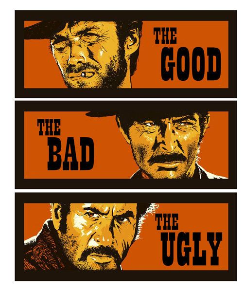 The Good The Bad And The Ugly Clint Eastwood T Shirt