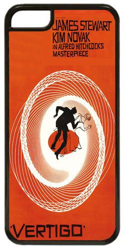 Vertigo Saul Bass Movie Film Poster Quality Cover/Case Fits iPhone 7/7S. Classic
