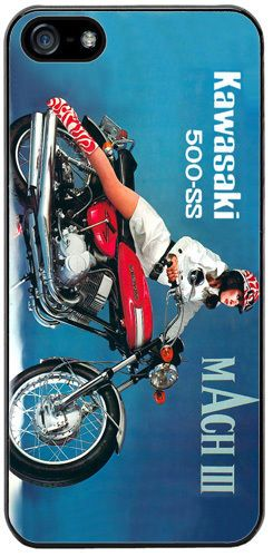 Vintage 500 H1 Mach III 70s Motorcycle Advert Cover/Case For iPhone 5/5S Quality