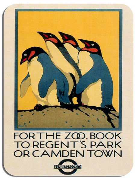 Vintage Camden Town Underground Regents Park Zoo Mouse Mat. Quality Mouse Pad