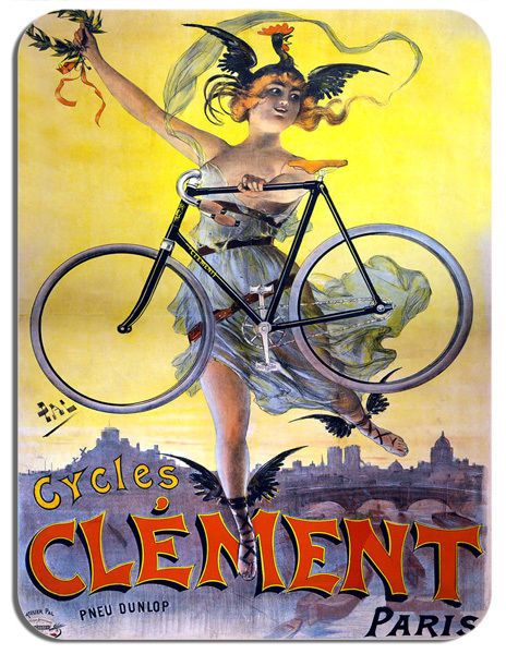 Vintage Clement French Bicycle Advert Mouse Mat. Bike High Quality Mouse pad