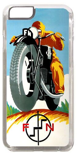 Vintage FN Motorcycle Ad Cover/Case Fits iPhone 6 PLUS + /6 PLUS S. Motorbike