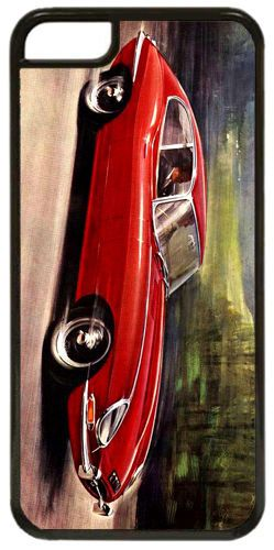 Vintage Jaguar E Type 4.2 Litre Car Advert Cover/Case For iPhone 5C. Classic