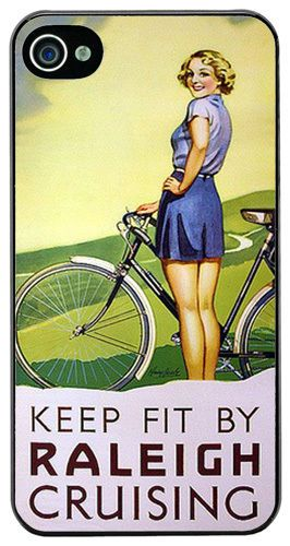 Vintage Raleigh Bicycle Advert High Quality Cover Case Fits iPhone 4/4S. Classic