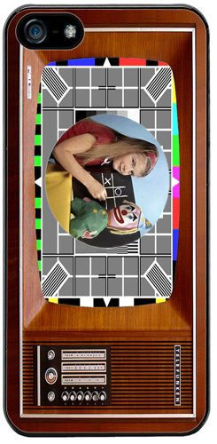 Vintage Television Cover/Case Fits iPhone 5/5S. The Test Card In Colour TV Gift