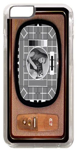 Vintage Television Cover/Case Fits iPhone 6 PLUS + /6 PLUS S. Test Card in B&W