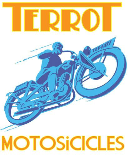 Vintage Terrot Motorcycle T-Shirt. 12 Sizes. Motorbike, Biker, Classic Bike Gift