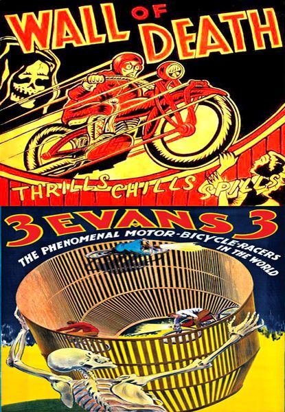 Wall Of Death Vintage Posters T-Shirt 12 Sizes Motorbike Classic Bike Motorcycle