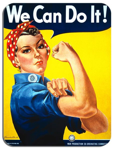 We Can Do It Mouse Mat. High Quality Motivational Rosie The Riveter Mouse Pad
