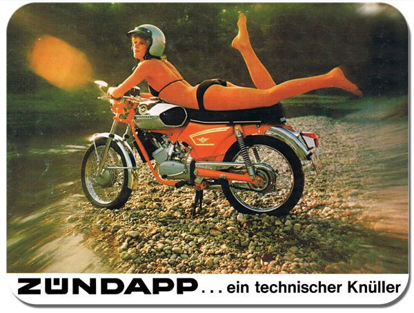 Zundapp Girl Motorbike Mouse Mat Classic Bike Brochure Motorcycle Mouse pad Gift