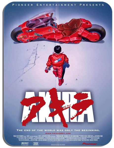 Akira Movie Poster Mouse Mat. High Quality Vintage Manga Film Mouse Pad