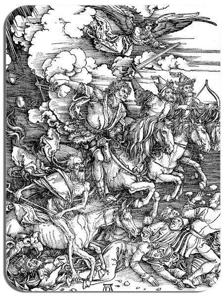 Albrecht Durer Four Horsemen of the Apocalypse Mouse Mat. High Quality Mouse Pad