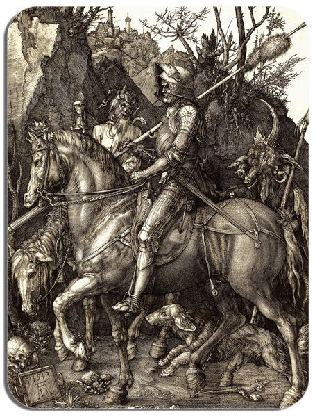 Albrecht Durer Knight Death And The Devil Mouse Mat. High Quality Art Mouse Pad