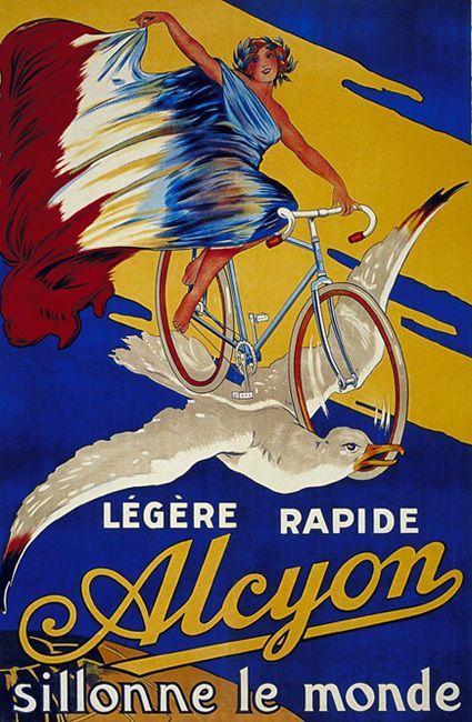 Alcyon Vintage Bicycle Ad T-Shirt. Gents Ladies & Kids Sizes Classic Cycling Tee