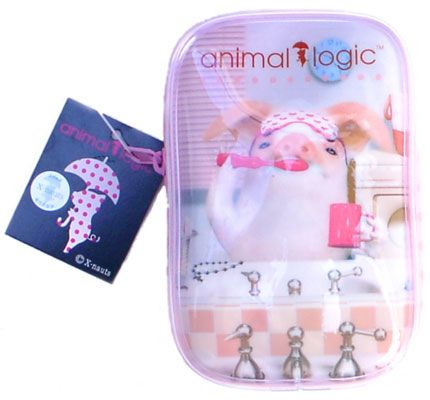 Animal Logic mini make up bag: Tamako brushing his teeth