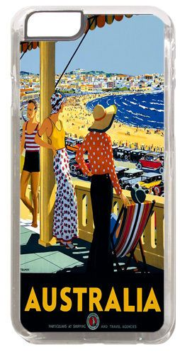 Australia Vintage 1930's Travel Poster Cover/Case Fits iPhone 6/6S. Tourism Gift