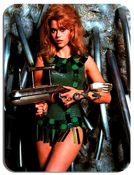 Barbarella Jane Fonda Movie Poster Mouse Mat. Film Novelty Mouse pad