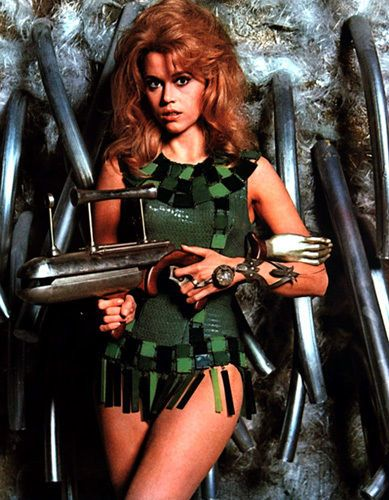 Barbarella Jane Fonda  Ray Gun T-Shirt. Gents, Ladies & Kids Sizes. Movie Film