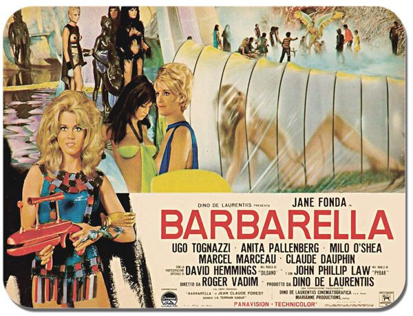 Barbarella Movie Poster Mouse Mat. Film Novelty Mouse pad