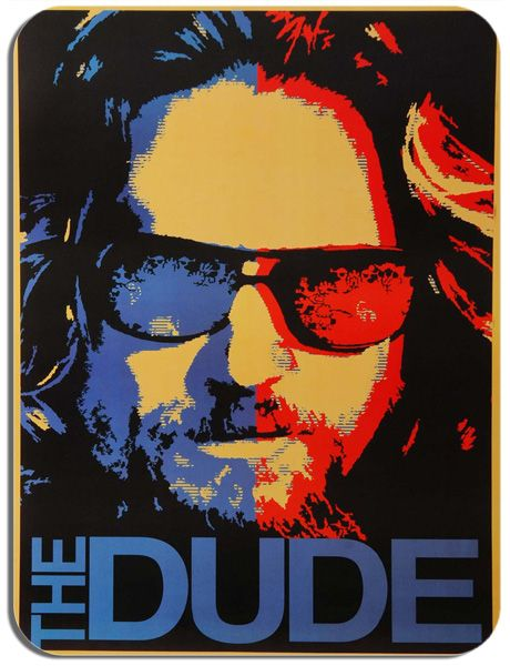 Big Lebowski The Dude Movie Poster Mouse Mat. High Quality Jeff Bridges Film Mouse Pad