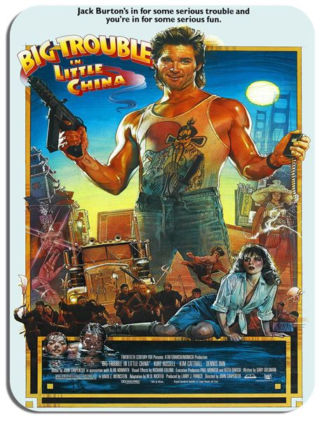 Big Trouble In Little China Vintage Film Poster Mouse Mat. Movie Mouse pad Gift