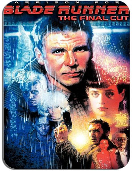 Blade Runner The Final Cut Movie Poster Mouse Mat. High Quality Harrison Ford Sci-Fi Film Mouse Pad