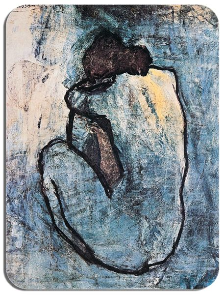 Blue Nude 1902 Pablo Picasso  Mouse Mat. High Quality  Fine Art Mouse Pad